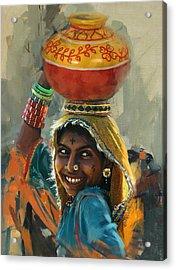 028 Sindh Acrylic Print by Mahnoor Shah