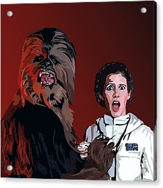 070. Naughty Wookie Acrylic Print by Tam Hazlewood