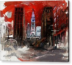 081 Parade On South Broad Street Acrylic Print by Maryam Mughal