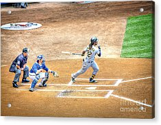 0990 Base Hit - Mccutchen Acrylic Print by Steve Sturgill