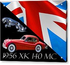 1956 Jaguar X K 140 M C Acrylic Print by Jack Pumphrey