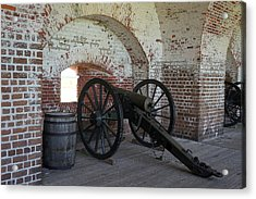 Fort Pulasksi Cannon Acrylic Print by Laurie Perry