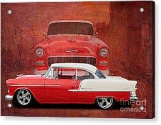 55 Chev Acrylic Print by Jim  Hatch