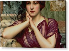 A Classical Beauty Acrylic Print by John William Godward