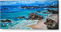 A Distant Shore Acrylic Print by Cathy Weaver