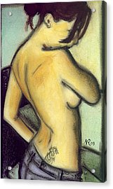 A Liaison With Ink Acrylic Print by Natalie Roberts