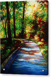 A Morning Walk Acrylic Print by Emery Franklin