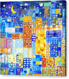 Abstract City Acrylic Print by Setsiri Silapasuwanchai