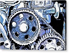 Abstract Detail Of The Old Engine Acrylic Print by Michal Boubin