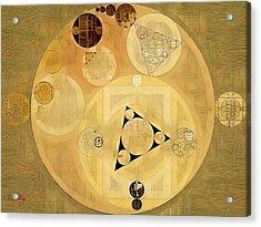 Abstract Painting - Indian Tan Acrylic Print by Vitaliy Gladkiy