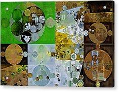 Abstract Painting - Pesto Acrylic Print by Vitaliy Gladkiy