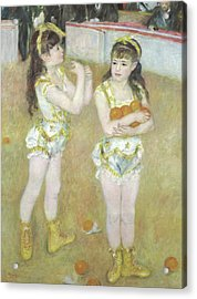 Acrobats At The Cirque Fernando, Francisca And Angelina Wartenberg Acrylic Print by Pierre Auguste Renoir