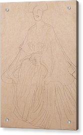Adele Bloch Bauer Acrylic Print by Gustav Klimt