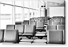 Airport Waiting Lounge Acrylic Print by Tom Gowanlock