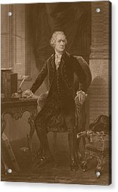 Alexander Hamilton Acrylic Print by War Is Hell Store