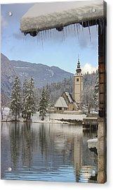 Alpine Winter Clarity Acrylic Print by Ian Middleton