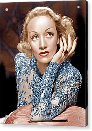 Angel, Marlene Dietrich, 1937 Acrylic Print by Everett