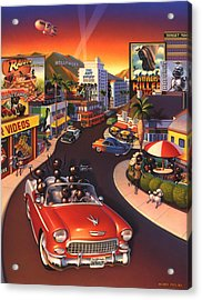 Ants On The Sunset Strip Acrylic Print by Robin Moline
