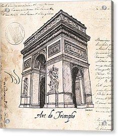 Arc De Triomphe Acrylic Print by Debbie DeWitt