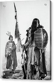 Assiniboin Native Americans Acrylic Print by Douglas Barnett