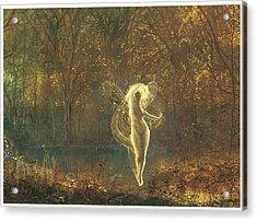 Autumn Acrylic Print by John Atkinson Grimshaw