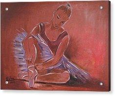 Ballerina Sitting Acrylic Print by Vered Thalmeier