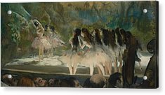 Ballet At The Paris Opera  Acrylic Print by Edgar Degas