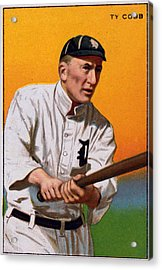 Baseball. Ty Cobb Baseball Card Acrylic Print by Everett
