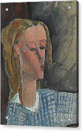 Beatrice Hastings Acrylic Print by Amedeo Modigliani