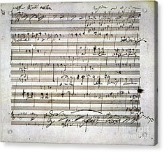 Beethoven Manuscript Acrylic Print by Granger