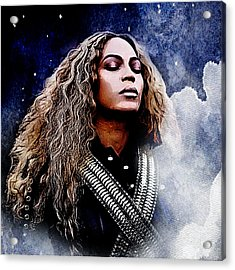 Beyonce  Acrylic Print by The DigArtisT