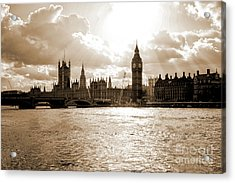 Big Ben And Houses Of Parliament In London Acrylic Print by Patricia Hofmeester