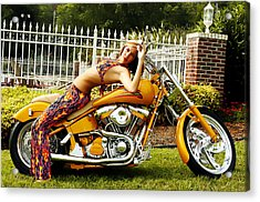 Bikes And Babes Acrylic Print by Clayton Bruster