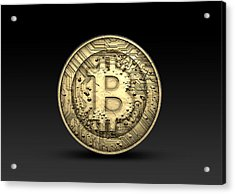 Bitcoin Physical Acrylic Print by Allan Swart