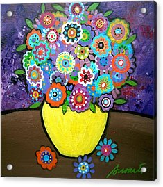 Blooms 6 Acrylic Print by Pristine Cartera Turkus