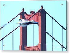 Blue Angels Crossing The Golden Gate Bridge 5 Acrylic Print by Wingsdomain Art and Photography
