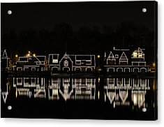 Boathouse Row - Philadelphia Acrylic Print by Brendan Reals