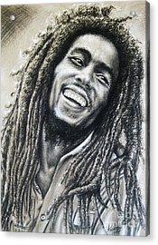 Bob Marley Acrylic Print by Anastasis  Anastasi