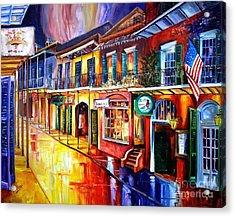 Bourbon Street Red Acrylic Print by Diane Millsap