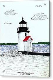 Brant Point Lighthouse Acrylic Print by Frederic Kohli