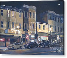 Broadway Nocturne Acrylic Print by Deb Putnam