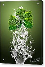Broccoli Splash Acrylic Print by Marvin Blaine