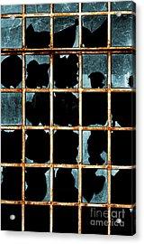 Broken Window Acrylic Print by Carlos Caetano