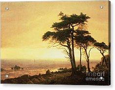 California Coast Acrylic Print by Albert Bierstadt