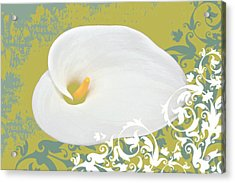 Calla Lily Acrylic Print by Cathie Tyler