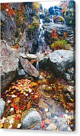 Cascades Of Color Acrylic Print by George Oze