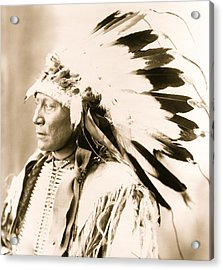 Chief Hollow Horn Bear Acrylic Print by American School