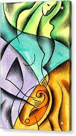 Childbirth Acrylic Print by Leon Zernitsky