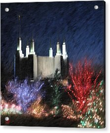 Christmas At The Temple Acrylic Print by Geoffrey C Lewis