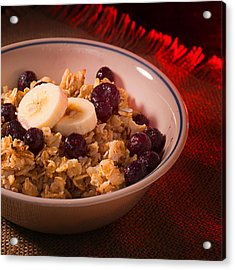 Christmas Oatmeal Breakfast Acrylic Print by Donald Erickson